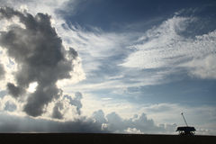 nuvole nell'alba Fotografia Stock