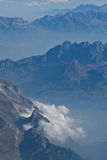 Nuvole nelle alpi Immagini Stock