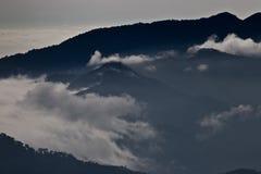 Nuvole nelle montagne, Panama Immagini Stock