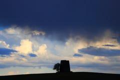 Nuvole nere e tempestose Fotografia Stock