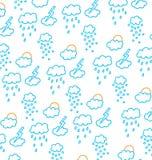 Nuvole, neve, pioggia, sole e tempeste royalty illustrazione gratis