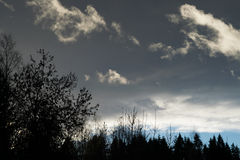 Nuvole piacevoli nel cielo Immagine Stock Libera da Diritti