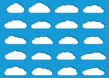 Nuvole piane bianche con le ombre Fotografia Stock Libera da Diritti