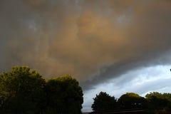 Nuvole piovose Fotografie Stock Libere da Diritti