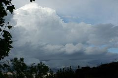 Nuvole piovose Immagini Stock