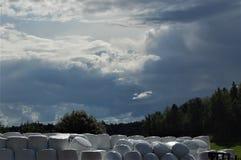 Nuvole piovose Fotografia Stock