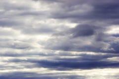 Nuvole prima della tempesta Fotografia Stock