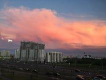 Nuvole rosa Fotografie Stock