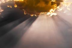 Nuvole, scena drammatica fotografia stock
