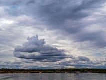 Nuvole scure Immagini Stock Libere da Diritti
