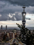 Nuvole scure a Barcellona Immagine Stock