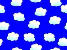 Nuvole senza cuciture Fotografie Stock Libere da Diritti