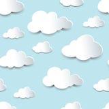 Nuvole senza cuciture del ritaglio Fotografia Stock