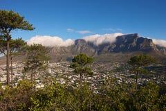 Nuvole sopra la montagna della Tabella fotografie stock libere da diritti
