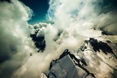 In nuvole sopra la Nuova Zelanda Fotografie Stock