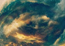 Nuvole stellate della nebulosa illustrazione vettoriale