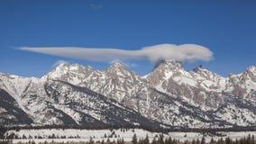 Nuvole stupefacenti sopra il Tetons Fotografia Stock Libera da Diritti