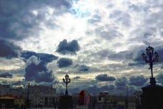 Nuvole su un cielo blu Fotografie Stock