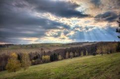 nuvole su una montagna Immagini Stock Libere da Diritti