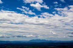 Nuvole sulle montagne di Montserrat Fotografia Stock Libera da Diritti