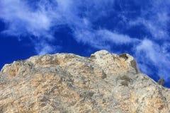 Nuvole sulle rocce Immagini Stock Libere da Diritti