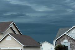Nuvole tempestose d'increspatura Fotografie Stock Libere da Diritti