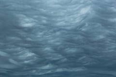 Nuvole tempestose d'increspatura Immagine Stock Libera da Diritti