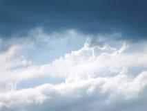 Nuvole tempestose nel cielo Fotografia Stock Libera da Diritti