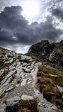 Nuvole tempestose in Val de l ` Ubayette Fotografia Stock Libera da Diritti