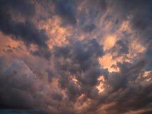 Nuvole temporalesche fotografia stock