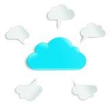 Nuvole in un cerchio Royalty Illustrazione gratis