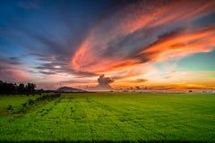 Nuvole variopinte Immagine Stock