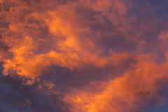 Nuvole variopinte Fotografia Stock