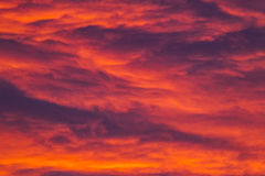 Nuvole variopinte Fotografie Stock