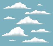Nuvole volumetriche messe Fotografia Stock