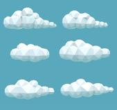 Nuvole volumetriche poligonali stabilite Immagini Stock Libere da Diritti
