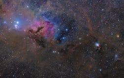 Nuvolosità nella costellazione del Taurus fotografia stock libera da diritti