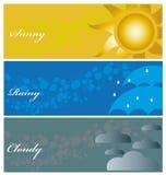 Nuvoloso piovoso soleggiato Immagine Stock Libera da Diritti