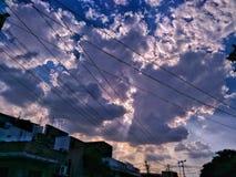 Nuvoloso, soleggiato Fotografia Stock Libera da Diritti
