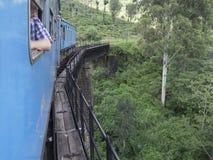Nuwara Eliya à estrada de ferro de Ella, Sri Lanka imagens de stock