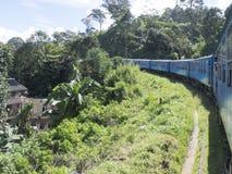 Nuwara Eliya à estrada de ferro de Ella, Sri Lanka imagem de stock