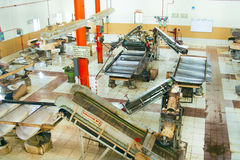 Μέσα σε ένα εργοστάσιο τσαγιού στο Χάιλαντς της Σρι Λάνκα Στοκ Εικόνες