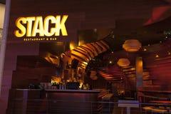 堆积餐馆在海市蜃楼在拉斯维加斯, 20的8月11日, NV 图库摄影