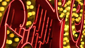 NV. An extreme close up of a red and yellow vintage marquee in Las Vegas stock video