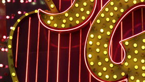 NV. A looping close up of chasing lights and neon tubes in Las Vegas stock video footage