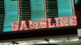 NV. A looping neon vintage marquee in Las Vegas stock footage