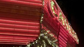 NV. A looping vintage casino sign marquee in Las Vegas stock video footage