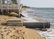 Níveis de aumentação do mar Fotos de Stock