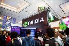 Nvidia dans l'exposition 2013 de jeu d'Indo Images stock