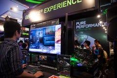 Nvidia dans l'exposition 2013 de jeu d'Indo Photographie stock libre de droits